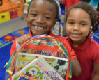 Two young kids participating int Inner City-Inner Child Arts program in DC
