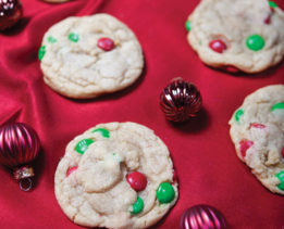 Holiday M&M Cookies