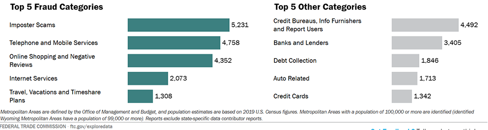 Top fraud categories chart