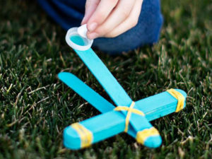 Toy Marshmallow Catapult for National Craft Month