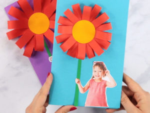 Paper Flower Mother's Day Card for National Craft Month