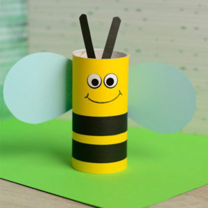 Toilet Paper Roll Bee for National Craft Month