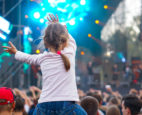 Girl at outdoor concert
