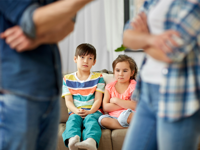 arguing in front of our children